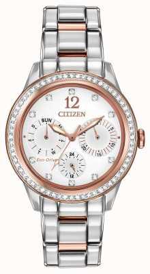 Citizen Relógio feminino de cristal silhueta FD2016-51A