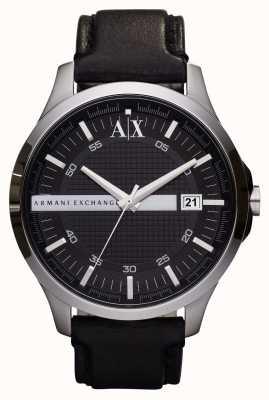 Armani Exchange Relógio de couro de couro para homens AX2101