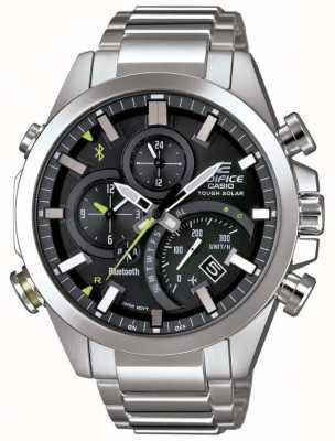 Casio Edifício bluetooth sincronização resistente smartwatch solar preto EQB-501D-1AER