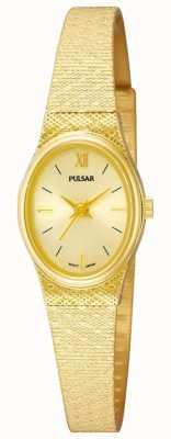 Pulsar Senhoras relógio de pulsar | pulseira de malha de ouro | PK3032X1