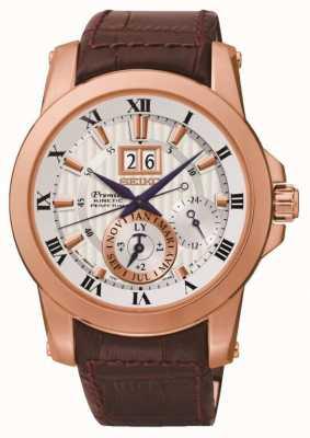 Seiko Relógio cinético premier para homens SNP096P1