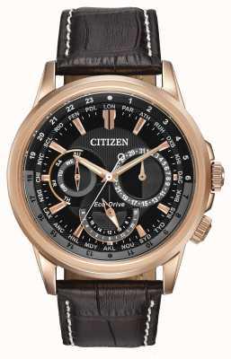 Citizen Mens calendrier rose tone eco-drive cronógrafo relógio BU2023-04E