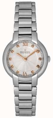 Dreyfuss Relógio de prata para senhora com diamantes DLB00060/D/01