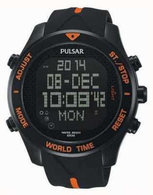 Pulsar Relógio cronógrafo de alarme pulsar para homens PQ2037X1