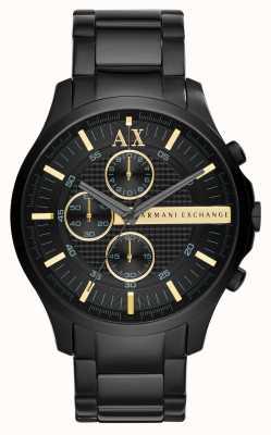 Armani Exchange Cronógrafo preto para homens AX2164