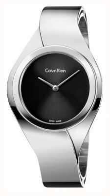 Calvin Klein Sentimentos femininos, aço, relógio de discagem preto K5N2M121