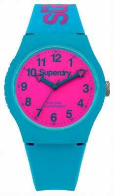 Superdry Relógio da correia de silicone da cerceta urbana SYG164AUP