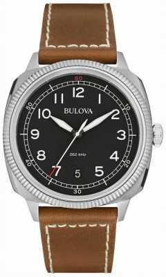 Bulova Mens militar uhf preto marrom relógio 96B230
