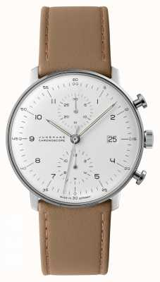 Junghans Cronoscópio Max Bill | pulseira de couro de bezerro | 027/4502.04