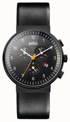 Braun Mens cronógrafo todo relógio preto BN0035BKBKG