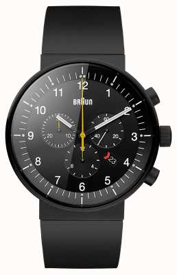 Braun Relógio cronógrafo preto de prestígio para homens BN0095BKBKBKG