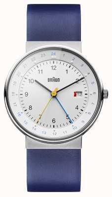 Braun Relógio de tempo dual clássico unisex BN0142WHBLG