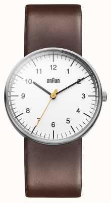 Braun Mens relógio marrom branco BN0021WHBRG
