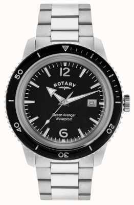 Rotary Ocean venenu homens de aço inoxidável GB02694/04