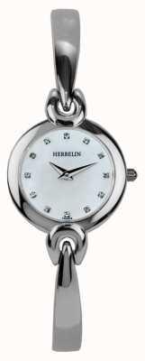 Michel Herbelin Caixa de aço inoxidável feminina, madrepérola 17001/B59
