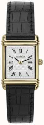 Michel Herbelin Bolsa de couro para mulheres caso de tom de ouro numero romano 17478/P08