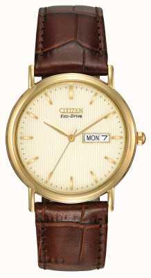 Citizen Relógio de marcação de champanhe marrom marrom BM8242-08P