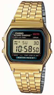 Casio Bronze dourado digital para homens A159WGEA-1EF