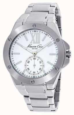 Kenneth Cole Seletor branco de aço inoxidável para mulher KC10020844