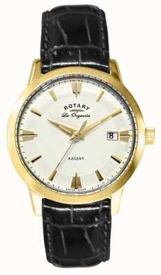 Rotary Corpo de couro preto regent masculino GS90115/01