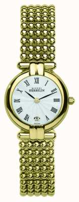 Michel Herbelin Perle feminino, relogio dourado 16873/BP08