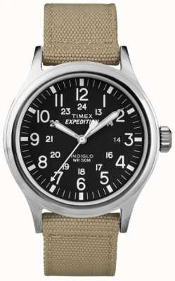 Timex Mens black expedition scout watch T49962