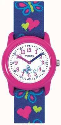 Timex Relógio de faixa de borboleta de crianças para crianças T89001
