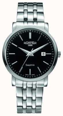 Roamer Linha clássica | pulseira de aço inoxidável | mostrador preto 709856 41 55 70
