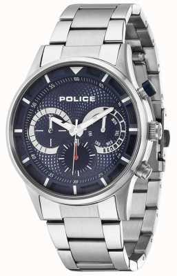 Police Mens driver de aço inoxidável mostrador azul 14383JS/03M