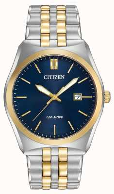 Citizen Mens eco-drive corso wr100 dois tons BM7334-58L