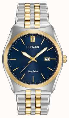 Citizen Mens eco-drive corso wr100 dois tons BM7334-58L