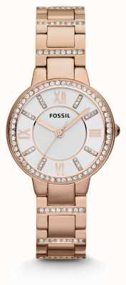 Fossil Womens virginia rose gold pvd plated ES3284