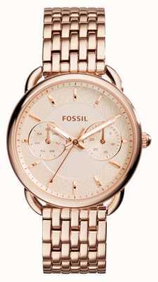 Fossil Prateleira de ouro rosa de sapatos para mulheres ES3713