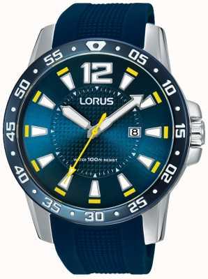 Lorus Calça de borracha azul para homens mostrador azul RH935FX9