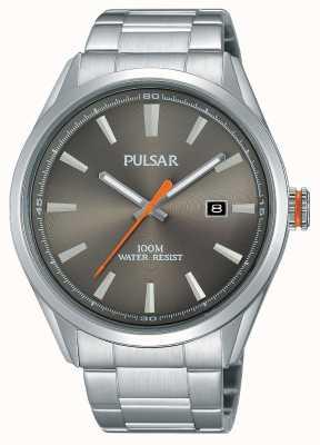 Pulsar Marcar prata prateada de aço inoxidável PS9381X1