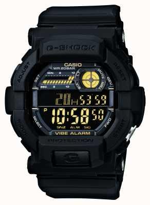 Casio G-shock vibrando relógio de alarme 5 amarelo preto GD-350-1BER