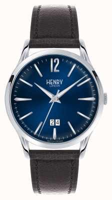 Henry London Relógio Knightsbridge | pulseira de couro marrom | HL41-JS-0035