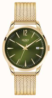 Henry London Chiswick mostrador de malha dourada HL39-M-0102