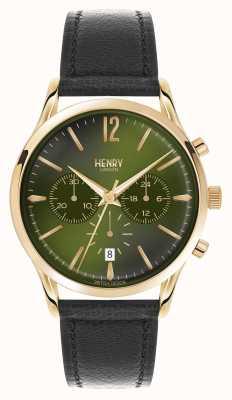 Henry London Cristo da cinta de couro preto Chiswick HL41-CS-0106