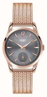 Henry London Leitão cinza fosco de ouro rosado Finchley HL30-UM-0116