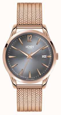 Henry London Leitão cinza fosco de ouro rosado Finchley HL39-M-0118
