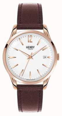 Henry London Braille de couro marrom bronze Richmond HL39-S-0028