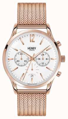 Henry London Richmond chrono de malha dourada HL41-CM-0040