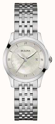 Bulova Seletor prata de aço inoxidável para mulher 96S160