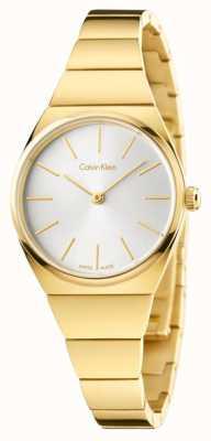 Calvin Klein Discagem em prata prateada dourada em ouro supremo para mulher K6C23546