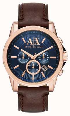 Armani Exchange Cronógrafo azul escuro dos homens AX2508