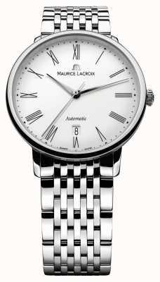 Maurice Lacroix Mens les classiques tradition relógio de aço automático LC6067-SS002-110-1