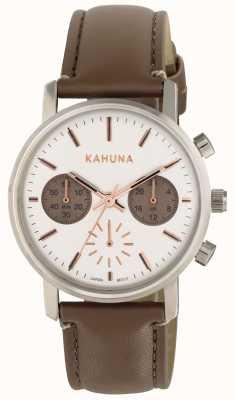 Kahuna Braille marrom para mulher branco KLS-0318L