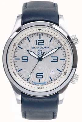 Elliot Brown Marcador branco de couro azul canford para homens 202-001-L06