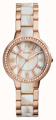 Fossil Womens virginia rose gold pvd plated ES3716